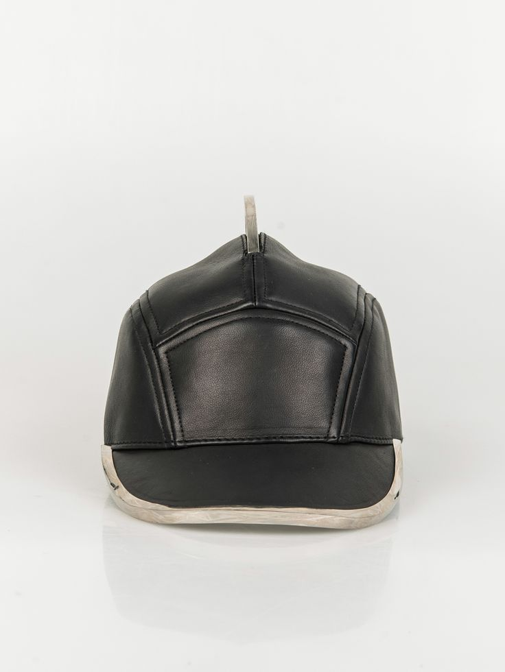 HOUSE OF MALAKAI , Phantom Leather Hat Detailed with Chrome #shopigo#shopigono17#ss15#houseofmalakai#headwear#rihanna#beyonce#accessory