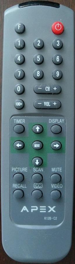 Apex K12B-C2 TV Remote Control