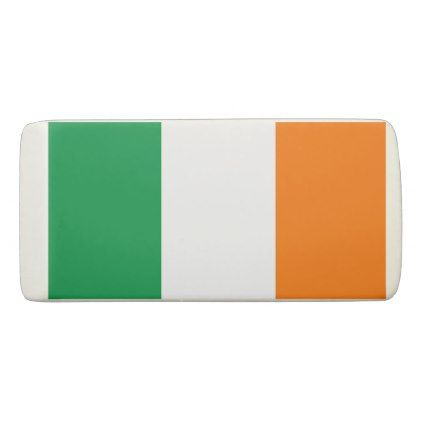 Patriotic Wedge Eraser with flag of Ireland - stylish gifts unique cool diy customize