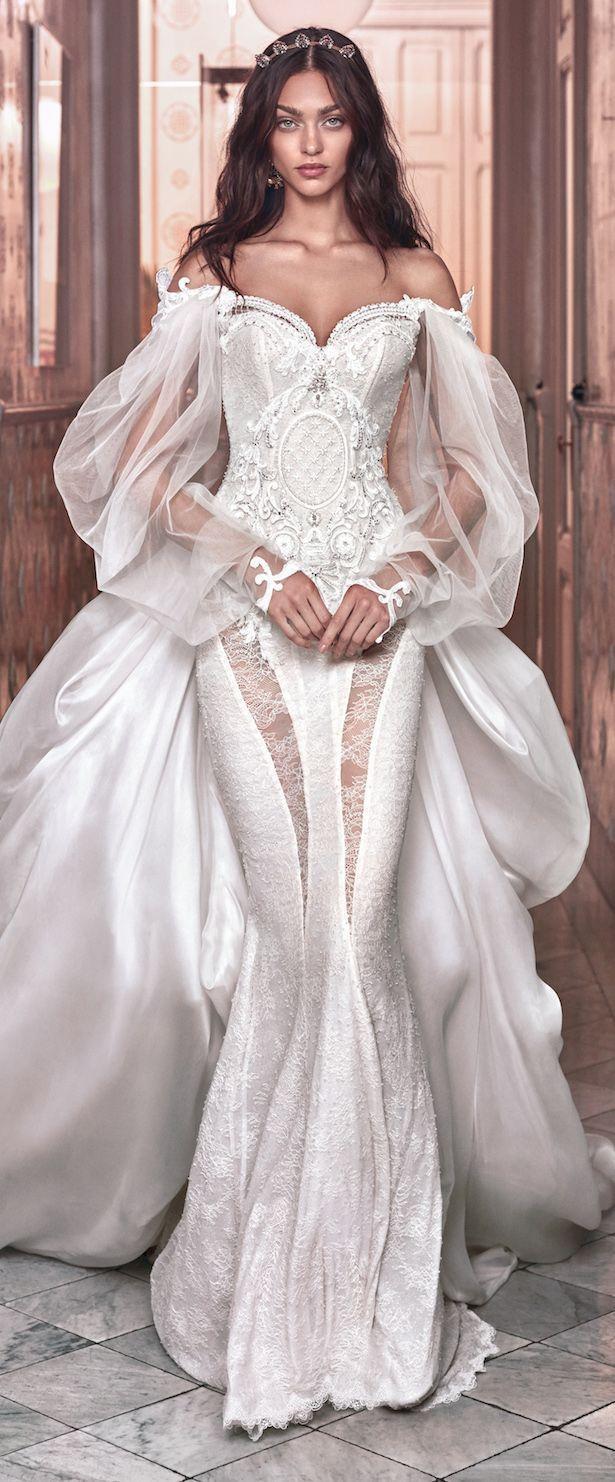 belle #Hochzeitskleid Spitze Ärmel #magazine in 11  Galia lahav