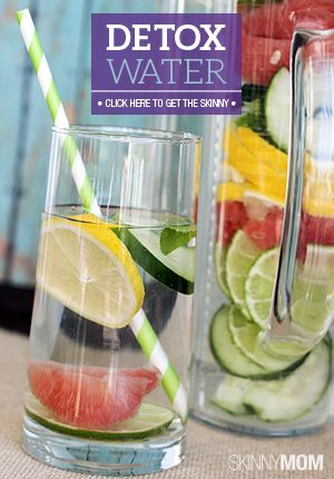 Detox Water // wash away holiday bloat and toxins #healthy