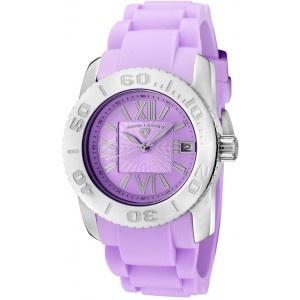 Reloj Swiss Legend Commander Lady SL-10114-011con caja de acero inoxidable pulido y pulsera de caucho color violeta. #relojes #watches