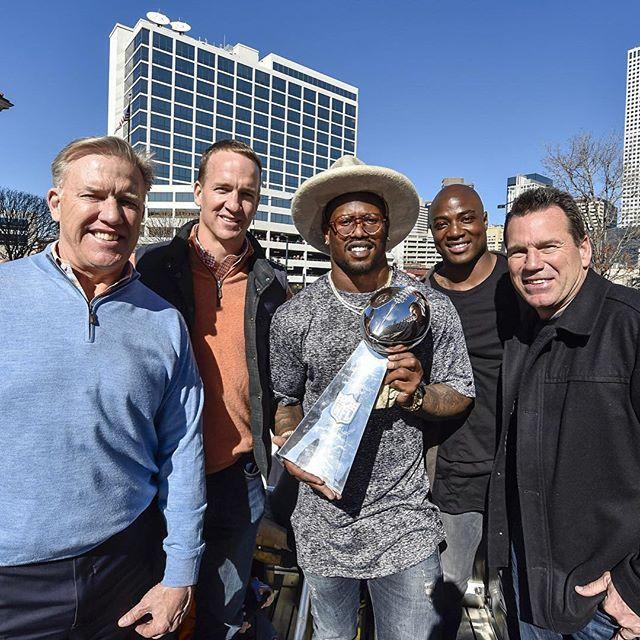 John Elway, Peyton Manning, Von Miller, DeMarcus Ware & Gary Kubiak #DenverBroncos #SB50