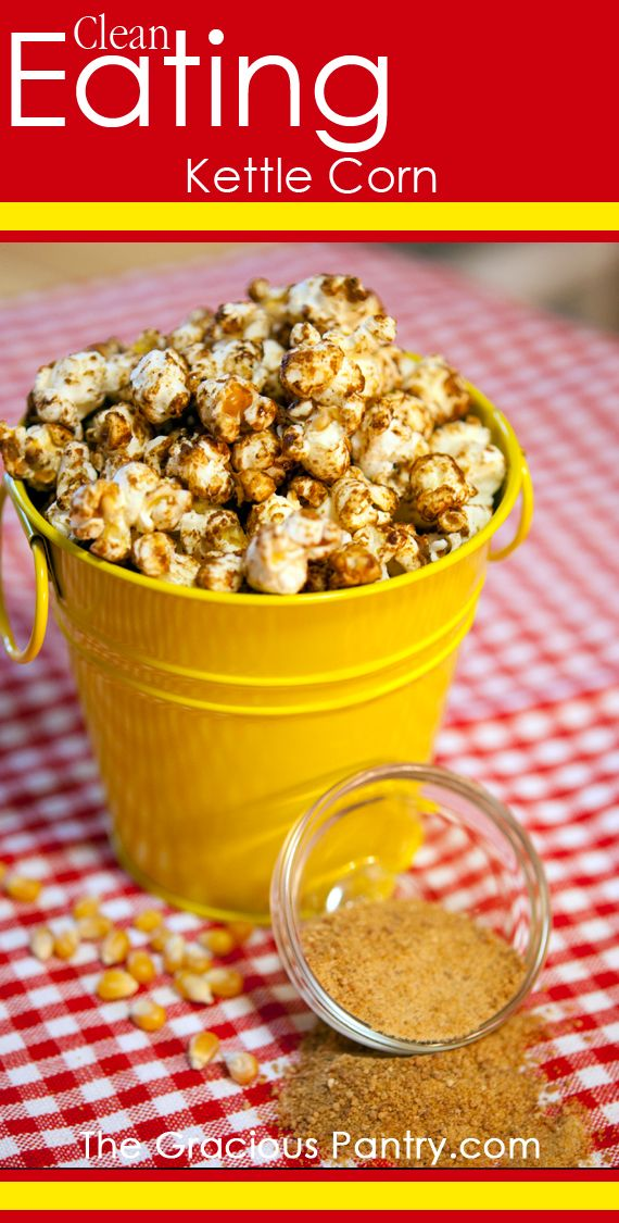 Clean Eating Kettle Corn  #cleaneating #cleaneatingrecipes #eatclean #gameday #gamedayrecipes #gamefood