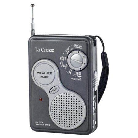 La Crosse 809-905 AM/FM Handheld Noaa Weather Radio, Gray