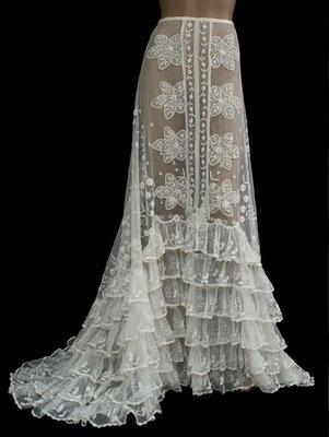 lovely lacy, flouncy skirt