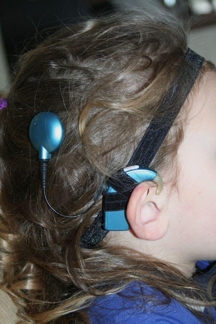Bandeau fin pour implant cochléaire ou prothèse auditive - Taille enfant - Noir : Accessoires coiffure par boisdesoluthe