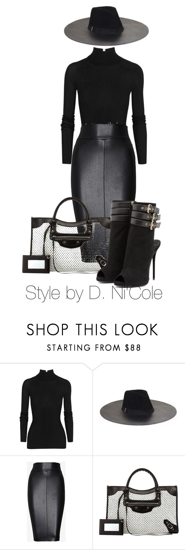 """""""Untitled #1953"""" by stylebydnicole ❤ liked on Polyvore featuring T By Alexander Wang, BCBGMAXAZRIA, Bailey 44, Balenciaga and Giuseppe Zanotti"""