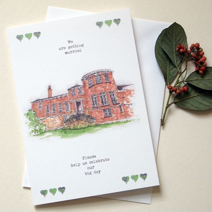 Hand+Drawn+Venue+Wedding+Invitations+-Save+The+Date+Cards+-+RSVPs+-+Information+Cards, £3.15