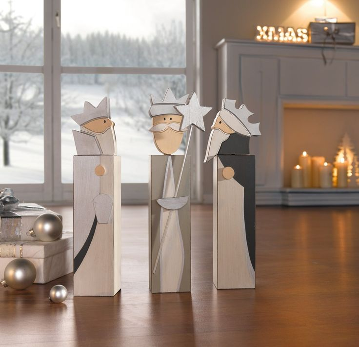 """Deko-Säule """"Heilige Könige"""", 3er Set jetzt für 17,90 € kaufen im Frank Flechtwaren und Deko Online Shop"""