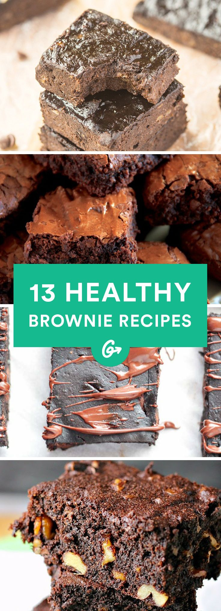 13 Bomb-Ass Healthy Brownie Recipes #healthy #brownie #recipes http://greatist.com/eat/healthy-brownie-recipes