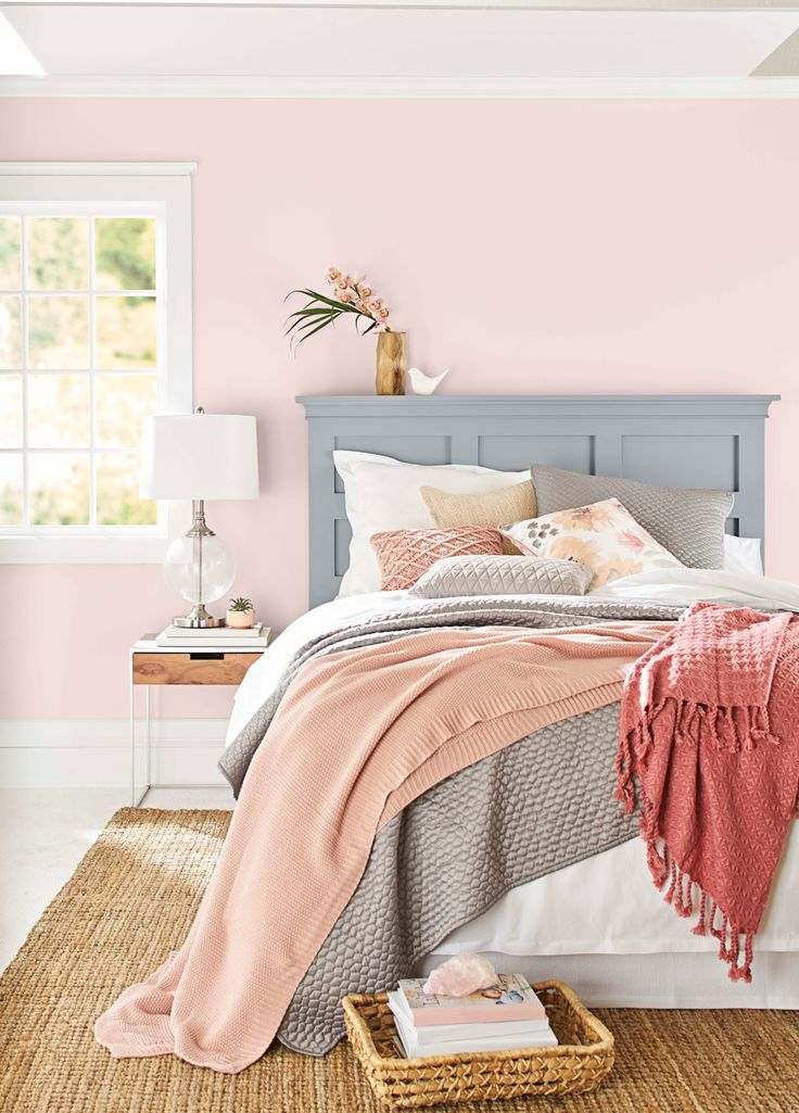 Beautiful Pink Hues Run The Gamut, So Pick Your Favorite. Pinks That Are U201cgrayed  Downu201d To A Dusty Blush Appear More Sophisticated And Gender Neutral. In  This Bedroom ...