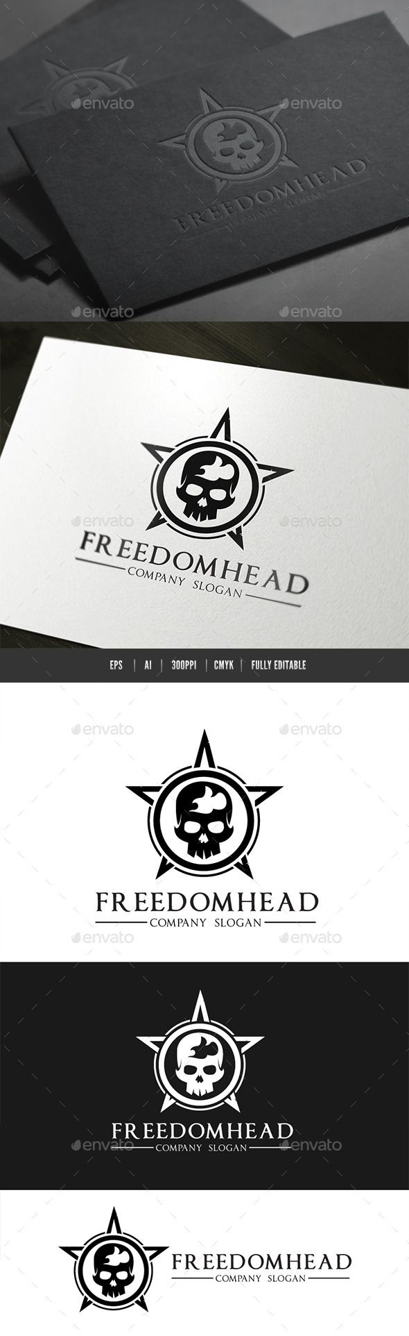 Freedom Head Logo — Vector EPS #punk #png • Available here → https://graphicriver.net/item/freedom-head-logo/9157107?ref=pxcr