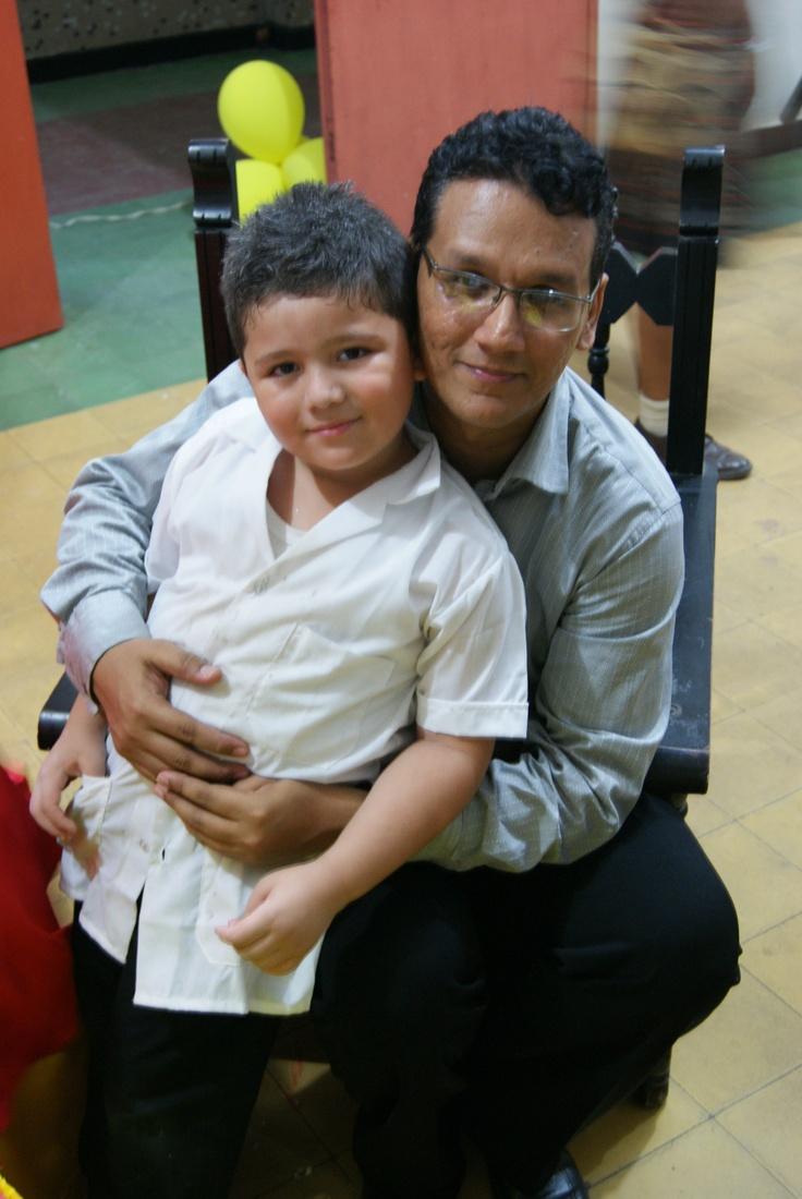 Egop y Sebastián Otero su alumno mas peque