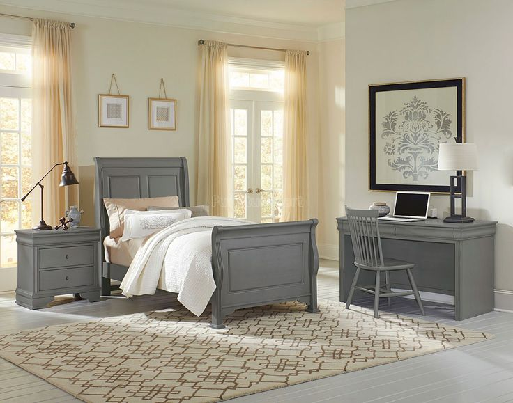 Superb French Market Youth Sleigh Bedroom Set (Zinc) Vaughan Bassett | Furniture  Cart