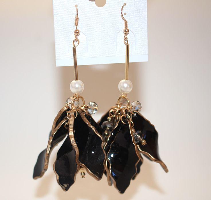 Ожерелье brincos лето стиль кристалл серьги гвоздики для женщины бижутерии длинная черный сплав акрил цветок себе модное ювелирные изделия купить на AliExpress