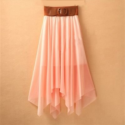 Asymmetric Skirt with Belt (in 6 colors) Price: ($31.95) Qualifies for Free Shipping