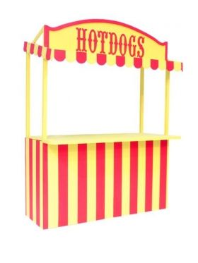 Booth decoration if making hot dogs