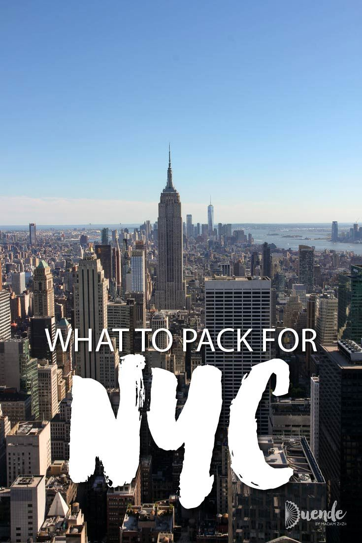 What to Pack for New York City During Any Season