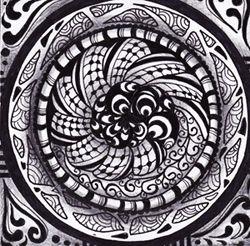 Meditation drawing idea