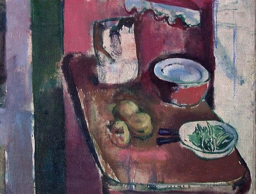 Ludvig Karsten,Digitalt Museum - Det røde kjøkken [Maleri]
