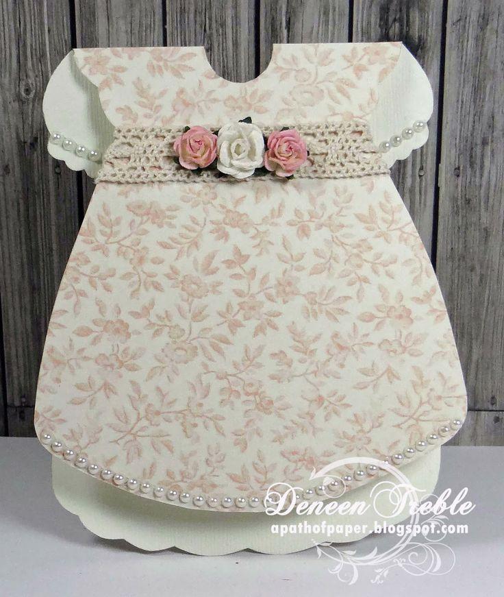 Darling Dress Template, girly, shaped card.