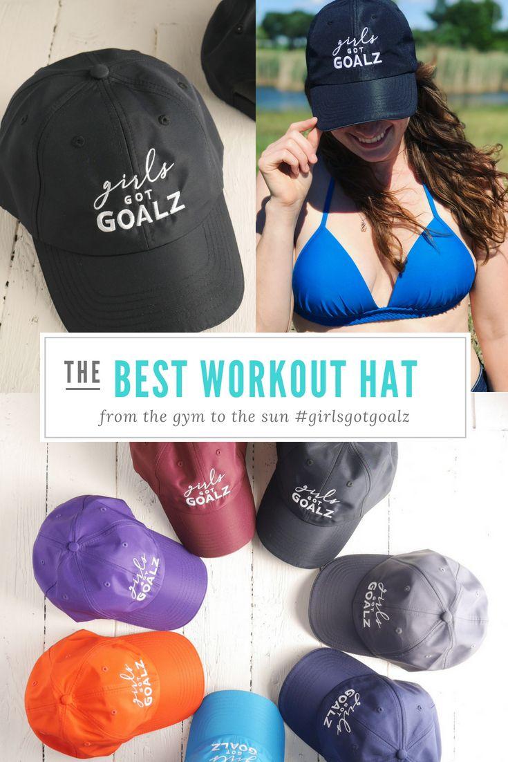 2a4719666cb19 Black Workout Hat | Womens Running Hat, Girls Got Goalz,Gym, Fitness ...
