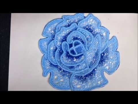 VIDEO Nº18(2). ROSA CON RED TUNECINA. CROCHET IRLANDES