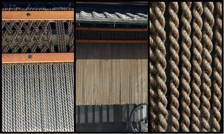 Japan, Kyoto 2015. I love the noren rope work, so many places had this type of noren rope work outside the places of business and homes
