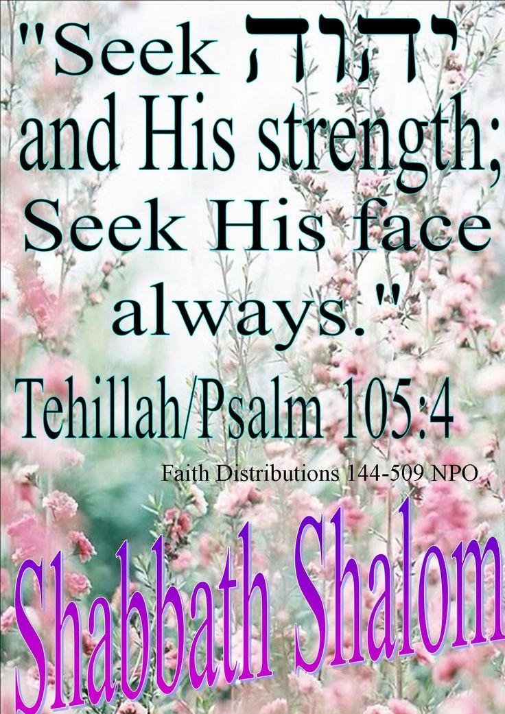 Shabbath Shalom! baqash YAHWEH