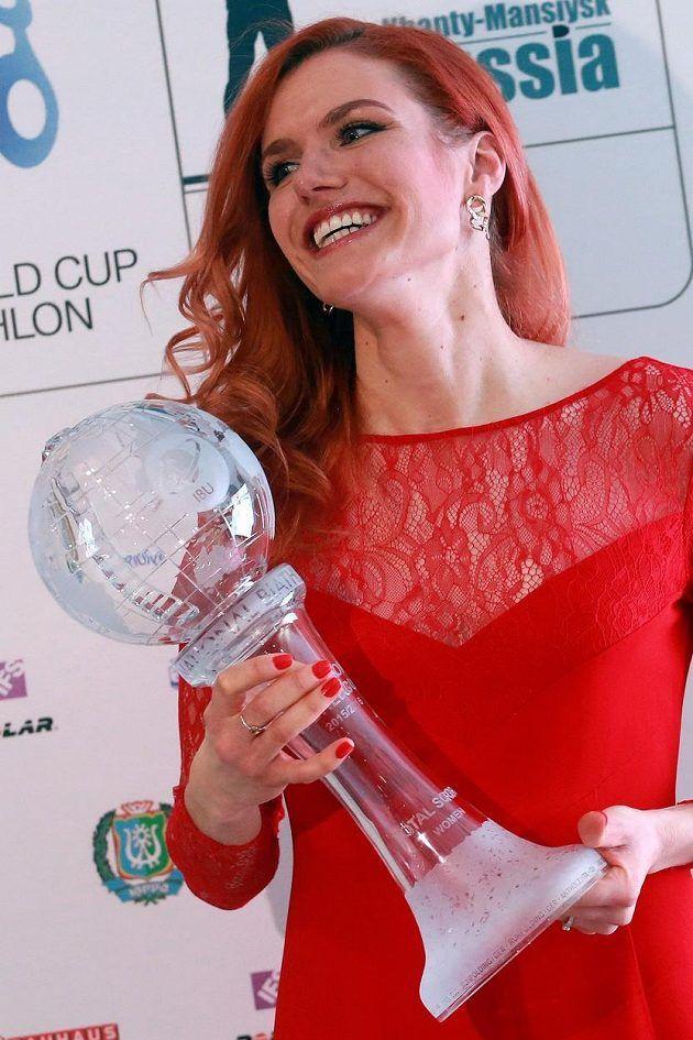 Rozesmátá Gabriela Soukalová. Vyšlo to, sezónu zakončila triumfem ve Světovém poháru!