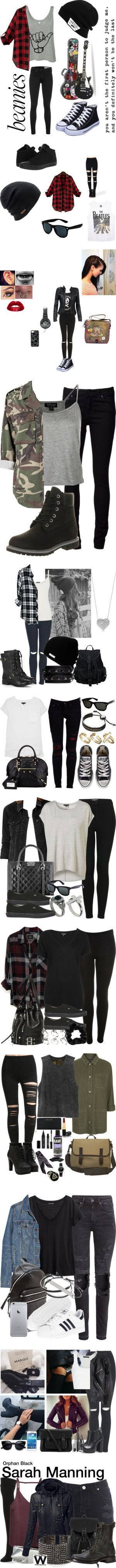 Punk Rock by pebble2000 on Polyvore featuring rag  bone, Vans, Converse, Coal, Wet Seal, Retrò, MuuBaa, Topshop, Marc by Marc Jacobs and Chanel