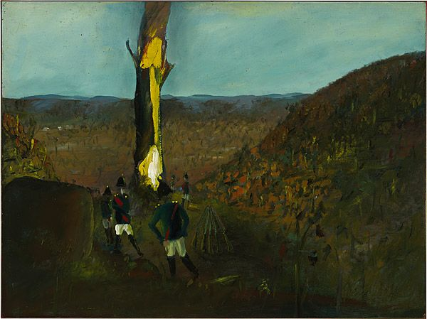 Sidney Nolan 1946-7 Ned Kelly Series - The burning tree 1947