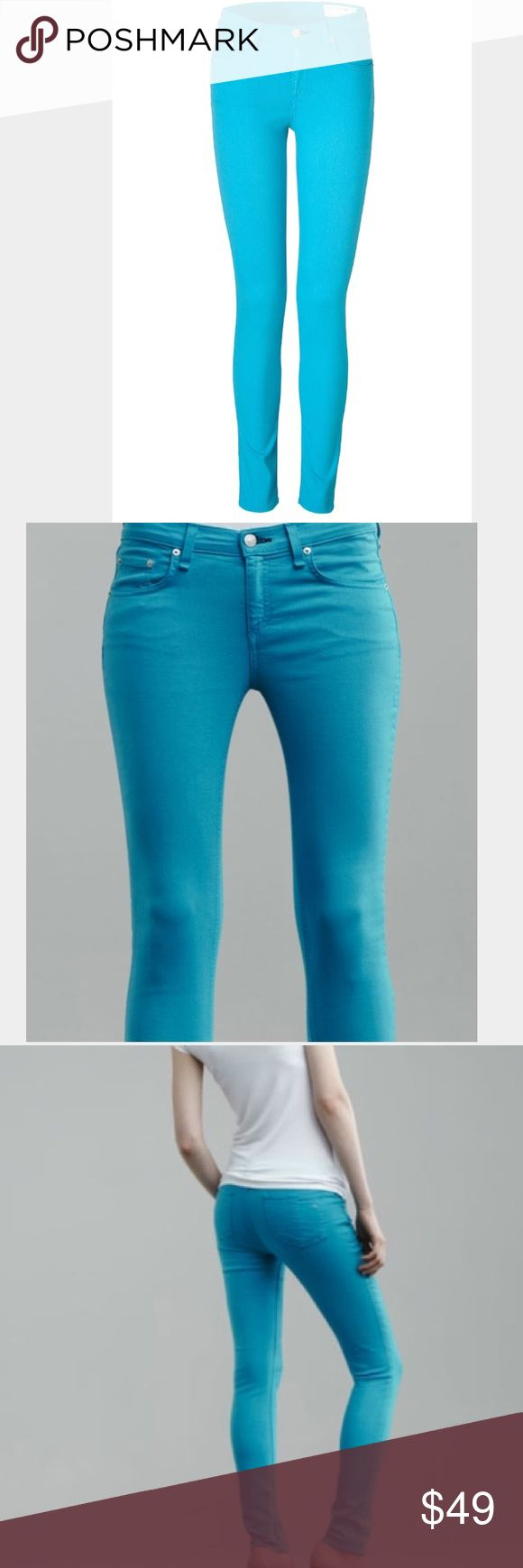 Rag & Bone bright blue skinny jeans Perfect condition! Great color! rag & bone Jeans Skinny