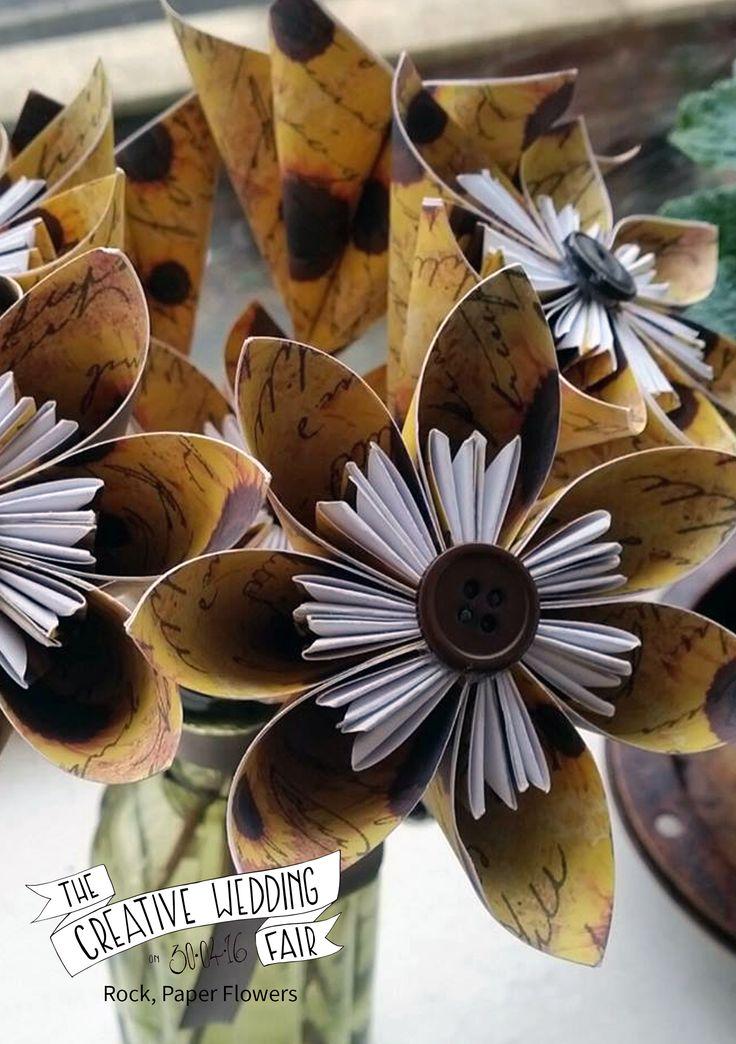 Rock, Paper Flowers - The Creative Wedding Fair by Etsy Manchester - Paper Flowers - Paper Wedding Flowers