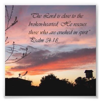 Pink Sunset Psalm 24:18 Encouragement Bible Print Photo Art