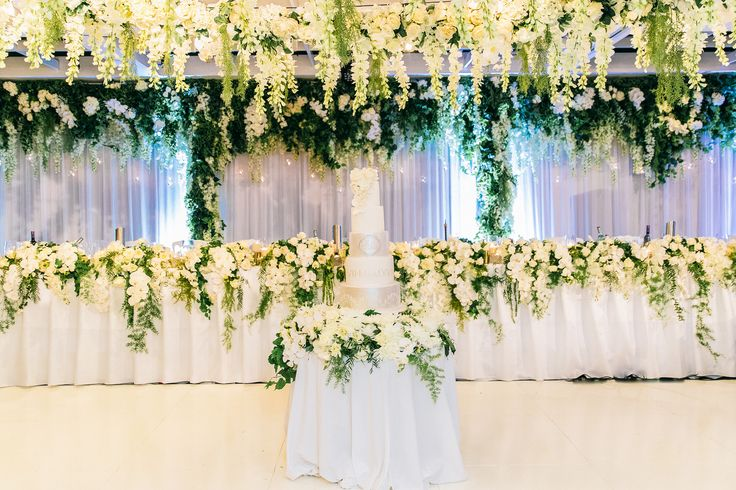 Sydney Harbour Wedding Venues: Doltone House Darling Island. White and Green Wedding Theming