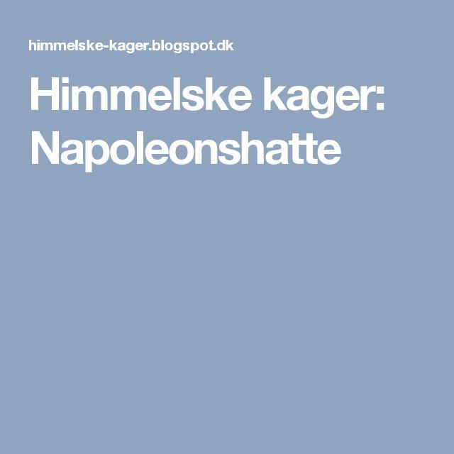 Himmelske kager: Napoleonshatte