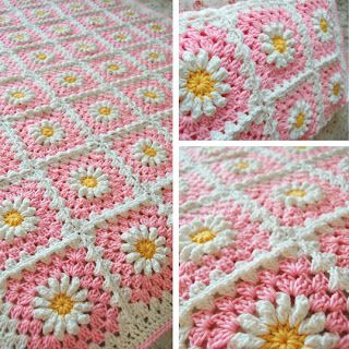 FIFIA CROCHETA blog de crochê : COLCHA DE CROCHÊ MARGARIDA COM TUTORIAL
