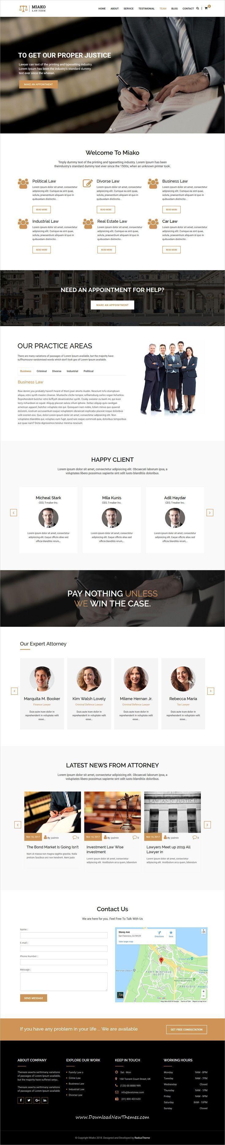 legal letter format sample%0A Miako  Lawyer  u     Law Firm WordPress Theme