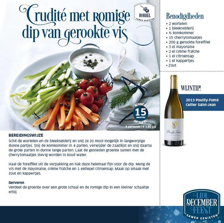 Crudité met romige dip van gerookte vis - Lidl Nederland