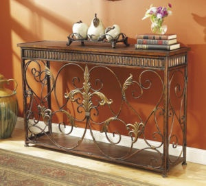 Tuscan Decor Iron Sofa Table Sideboard Buffet Credenza Credenza And Tuscan Decor