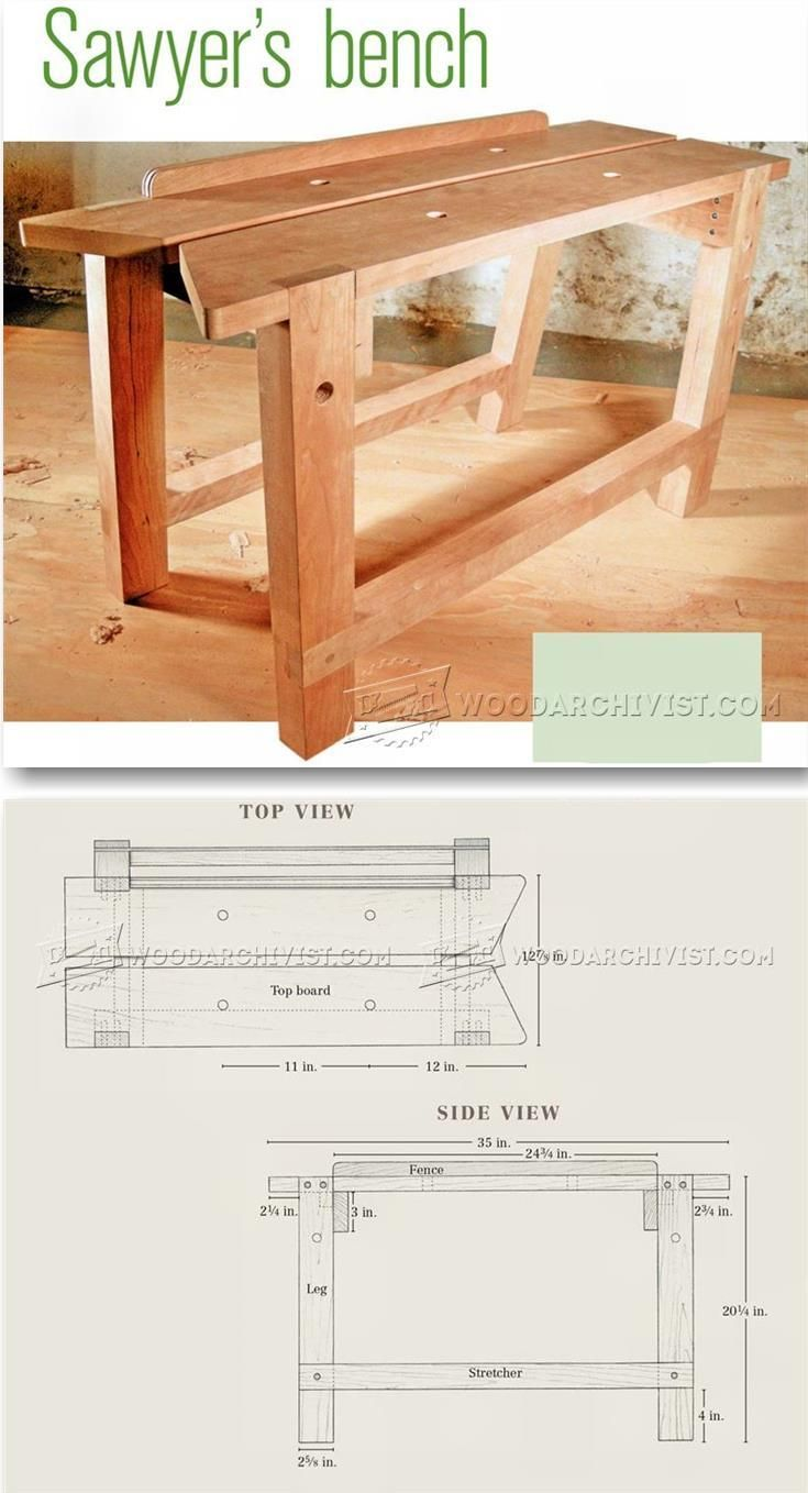 Sawyers Bench Plans - Workshop Solutions Projects, Tips and Tricks | WoodArchivist.com