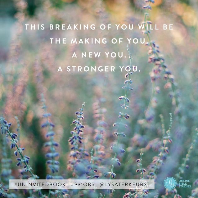 Have you ever felt … broken? Since we all live in this broken world, I'm going to venture your answer is yes. I know I sure have! I have the honor of sharing on the #P31OBS blog what God taught me, through the #UninvitedBook, about how to get beyond feeling brokenhearted from rejection. I would love for you to join me there!