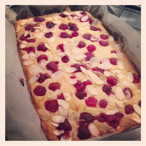 Almond and Raspberry Slice (Gluten, Fructose and Grain Free)