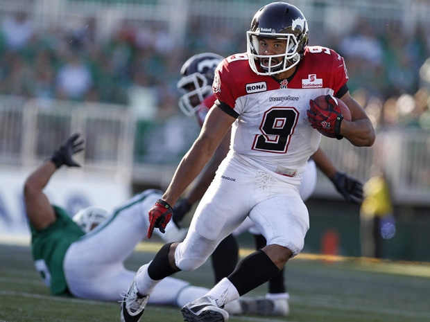 Stampeders' Jon Cornish will have to pay for mooning Rider fans