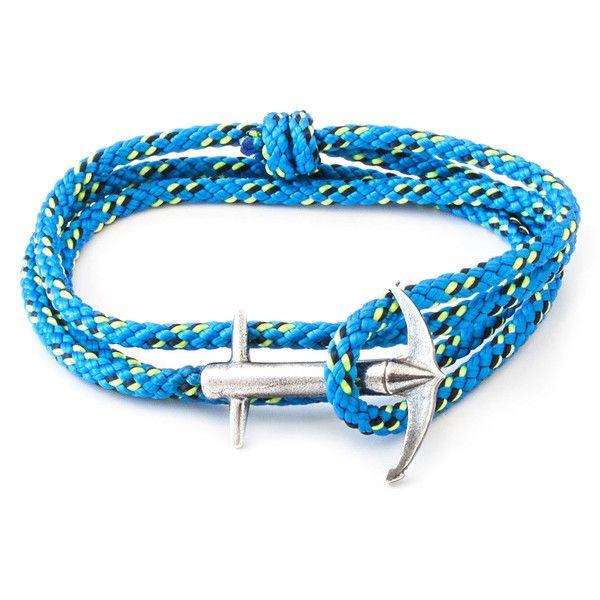 ANCHOR & CREW All Blue Admiral Rope Bracelet ($115) ❤ liked on Polyvore featuring jewelry, bracelets, blue, blue bangles, blue jewelry, cord bracelet and rope bracelet