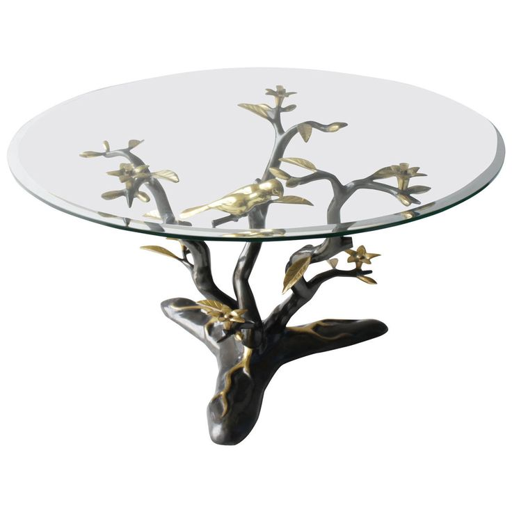 Brass Tree Coffee Table by Willy Daro | From a unique collection of antique and modern coffee and cocktail tables at https://www.1stdibs.com/furniture/tables/coffee-tables-cocktail-tables/