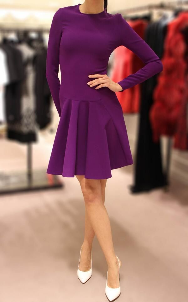 Isn't this the perfect party dress in its popping amethyst hue? Courtesy of Stella McCartney http://www.harrods.com/product/fluted-dress/stella-mccartney/000000000003496595?cat1=new-women&cat2=new-women-dresses?cid=scm_pip_ww_tw_201113
