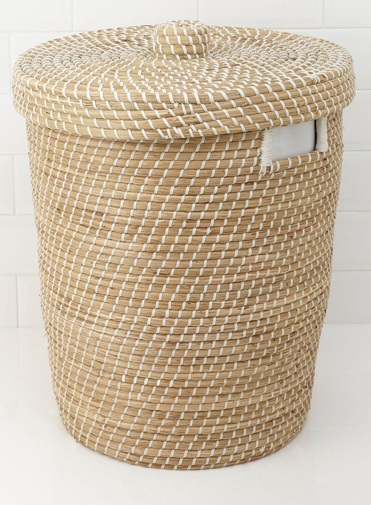 Seagrass Nautical Weave Laundry Bin